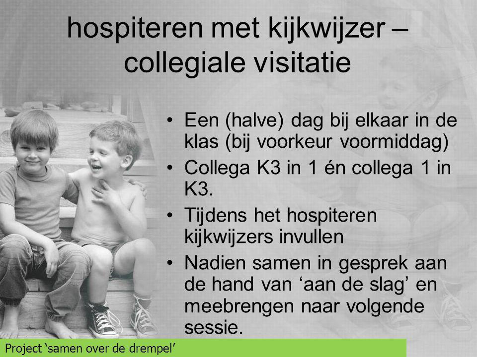 hospiteren met kijkwijzer – collegiale visitatie