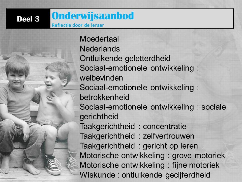 Onderwijsaanbod Deel 3 Moedertaal Nederlands Ontluikende geletterdheid