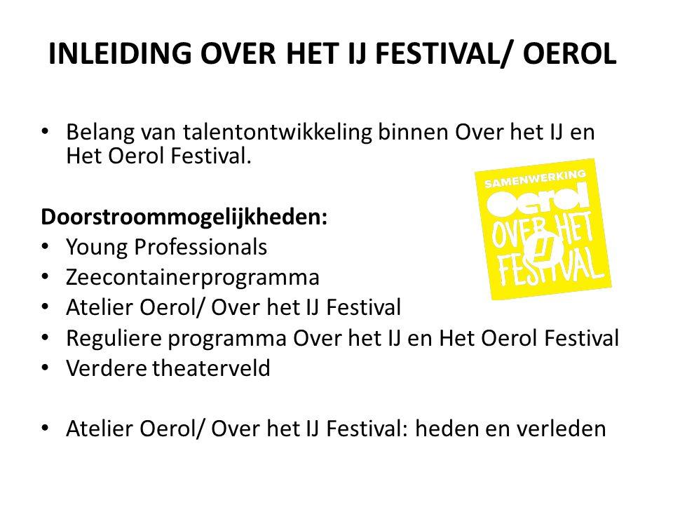 INLEIDING OVER HET IJ FESTIVAL/ OEROL
