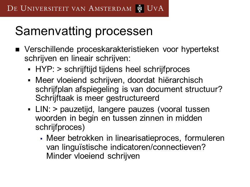 Samenvatting processen