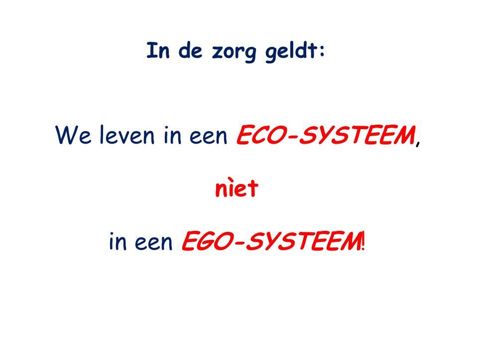 We leven in een ECO-SYSTEEM,