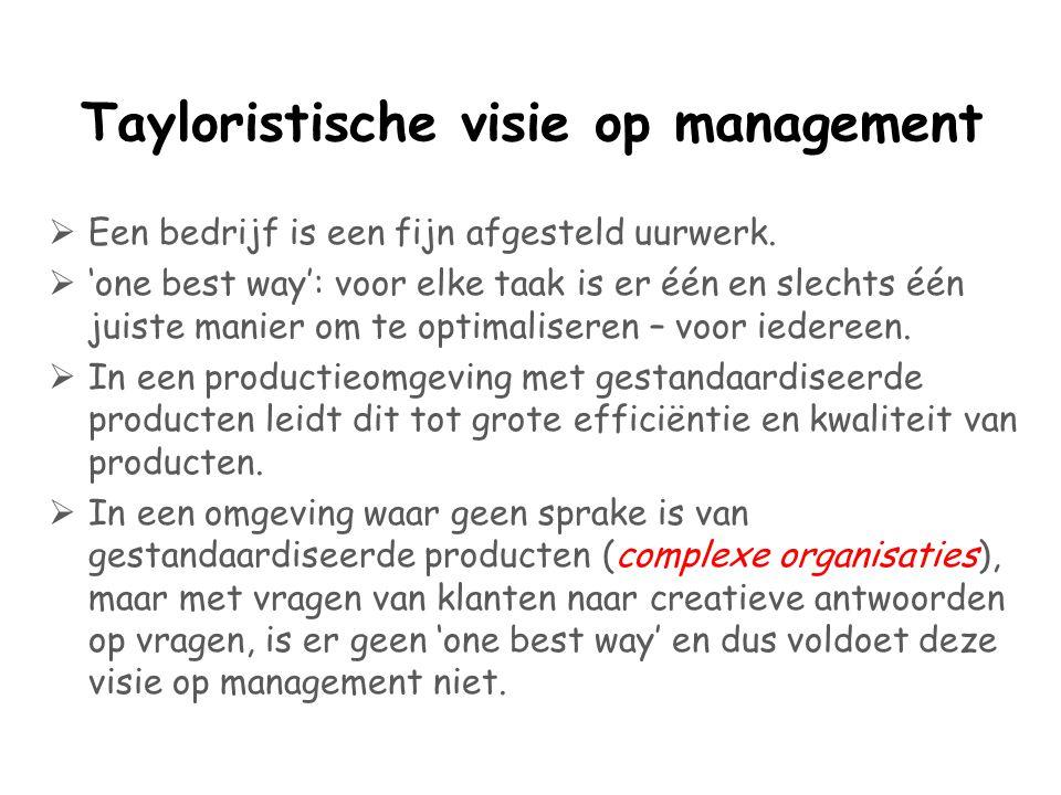 Tayloristische visie op management