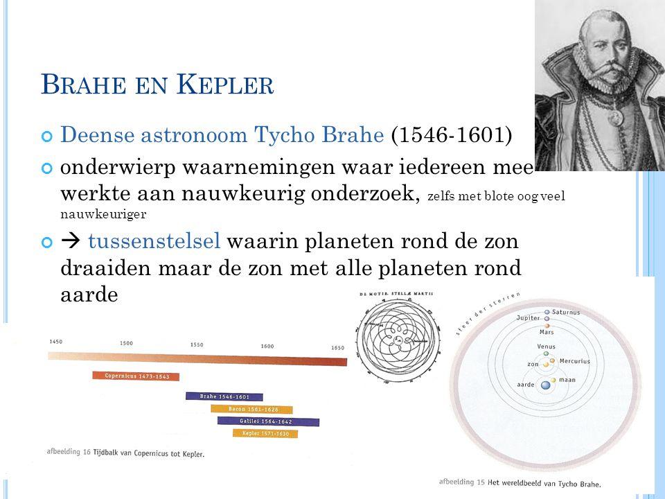 Brahe en Kepler Deense astronoom Tycho Brahe (1546-1601)