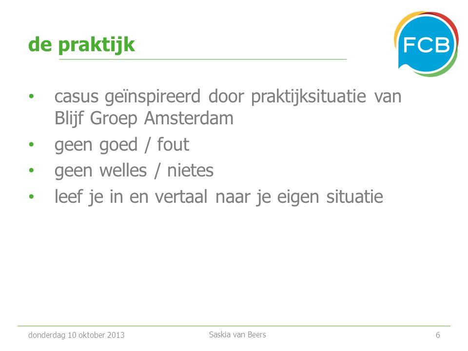 de praktijk casus geïnspireerd door praktijksituatie van Blijf Groep Amsterdam. geen goed / fout.