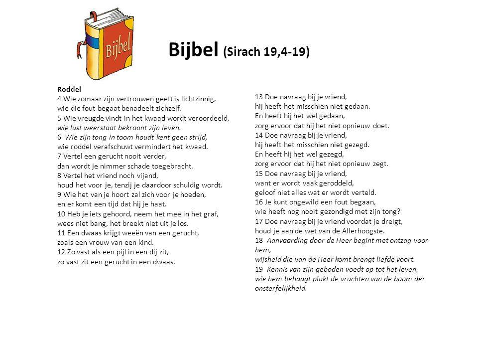 Bijbel (Sirach 19,4-19) Roddel
