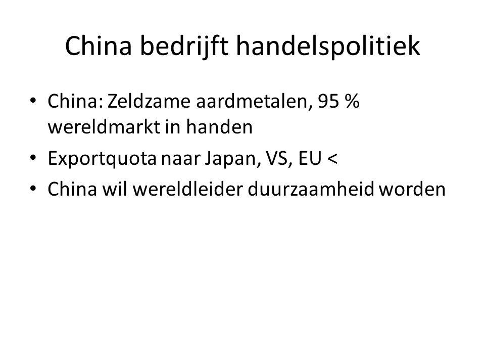 China bedrijft handelspolitiek