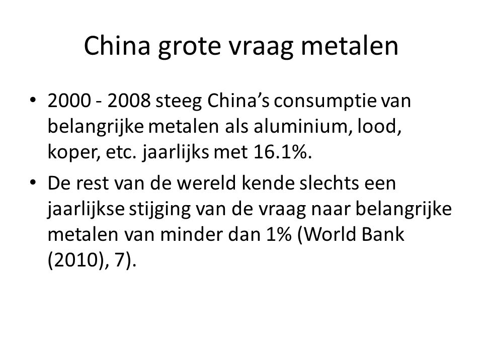 China grote vraag metalen