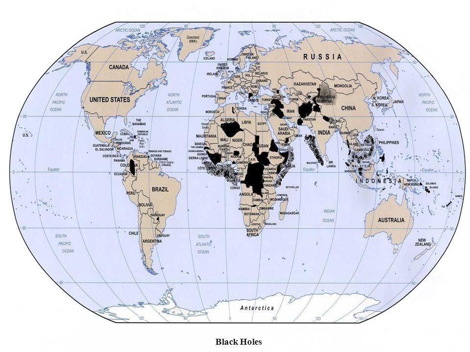 Black Holes Filipijnen: Mindanao, Solu archipel (Moro Islamtisch Front en splinters Abu Sajaf).