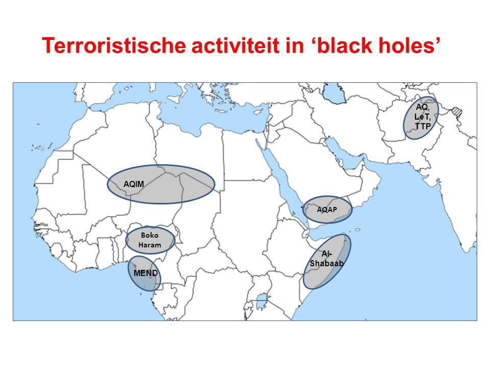 Terroristische activiteit in 'black holes'