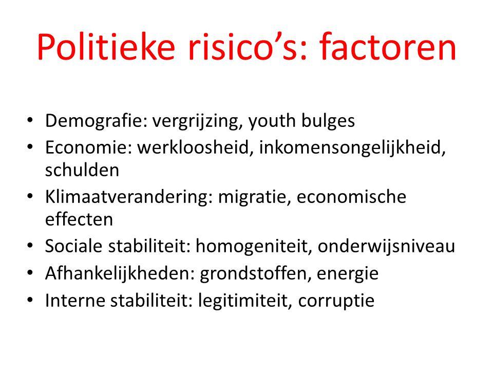 Politieke risico's: factoren