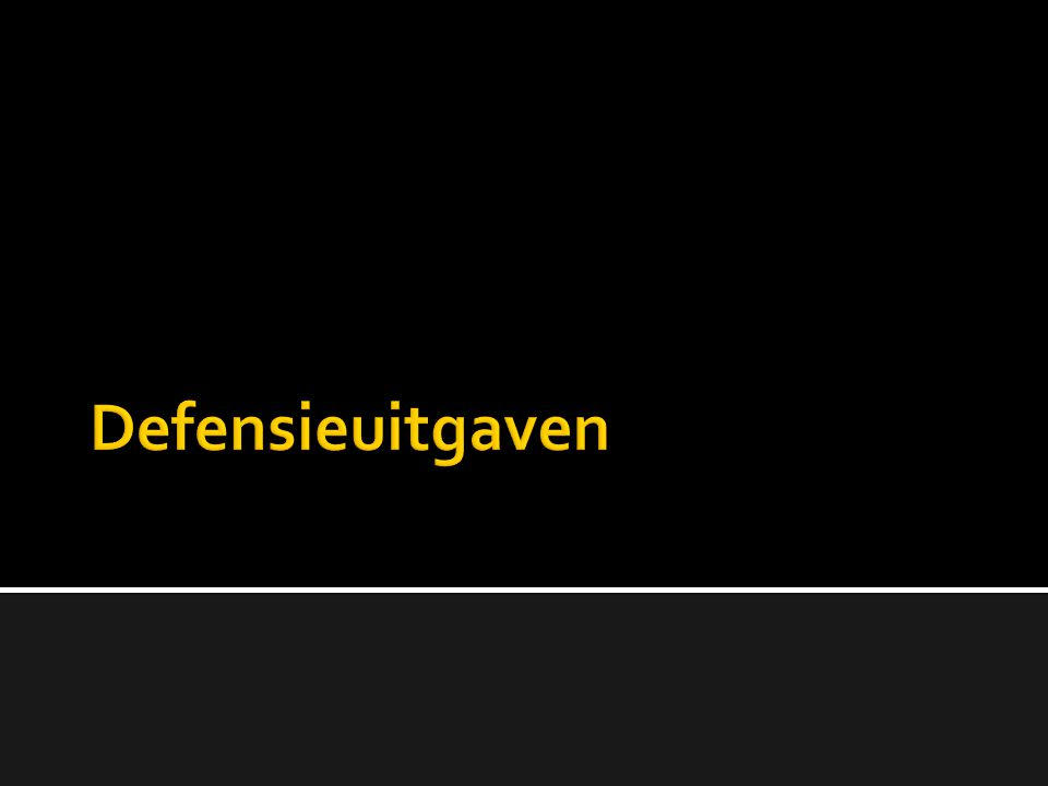 Defensieuitgaven