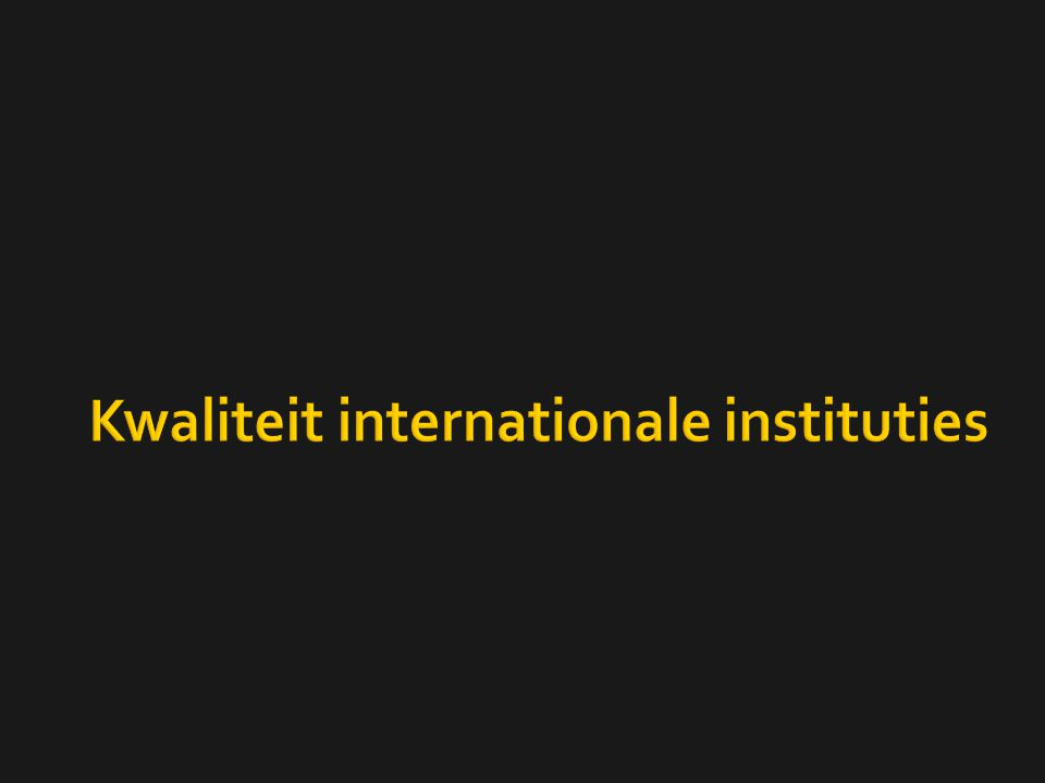 Kwaliteit internationale instituties