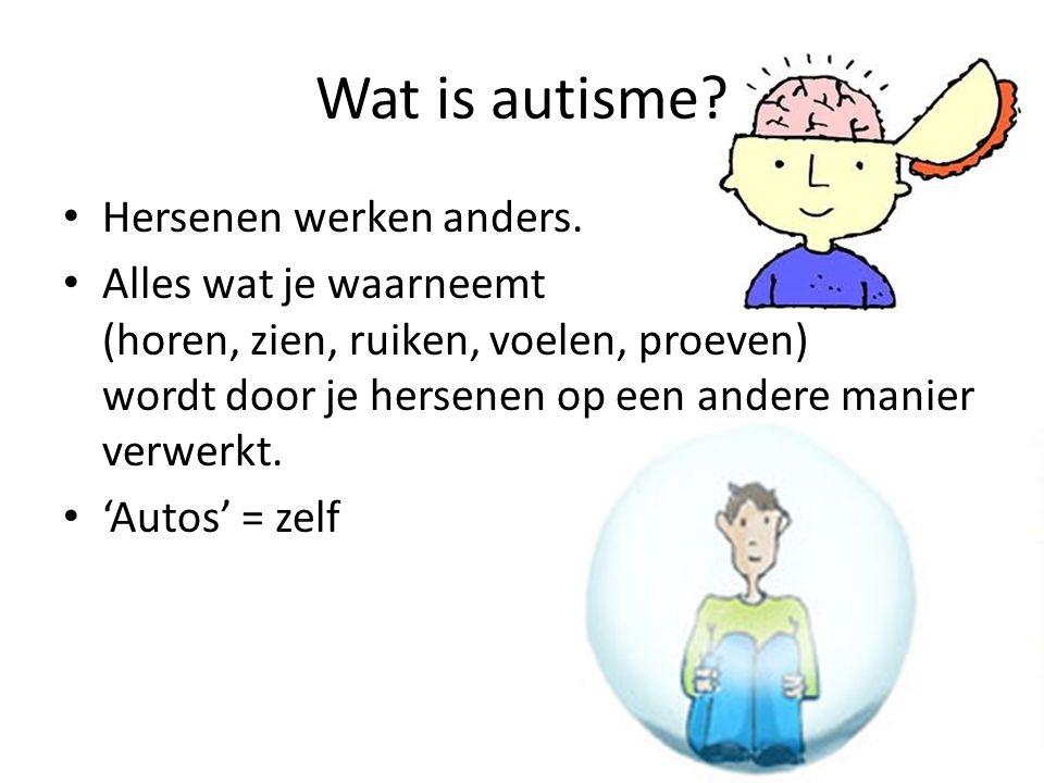 Wat is autisme Hersenen werken anders.