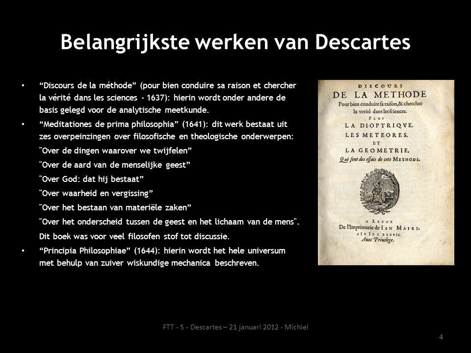 Belangrijkste werken van Descartes