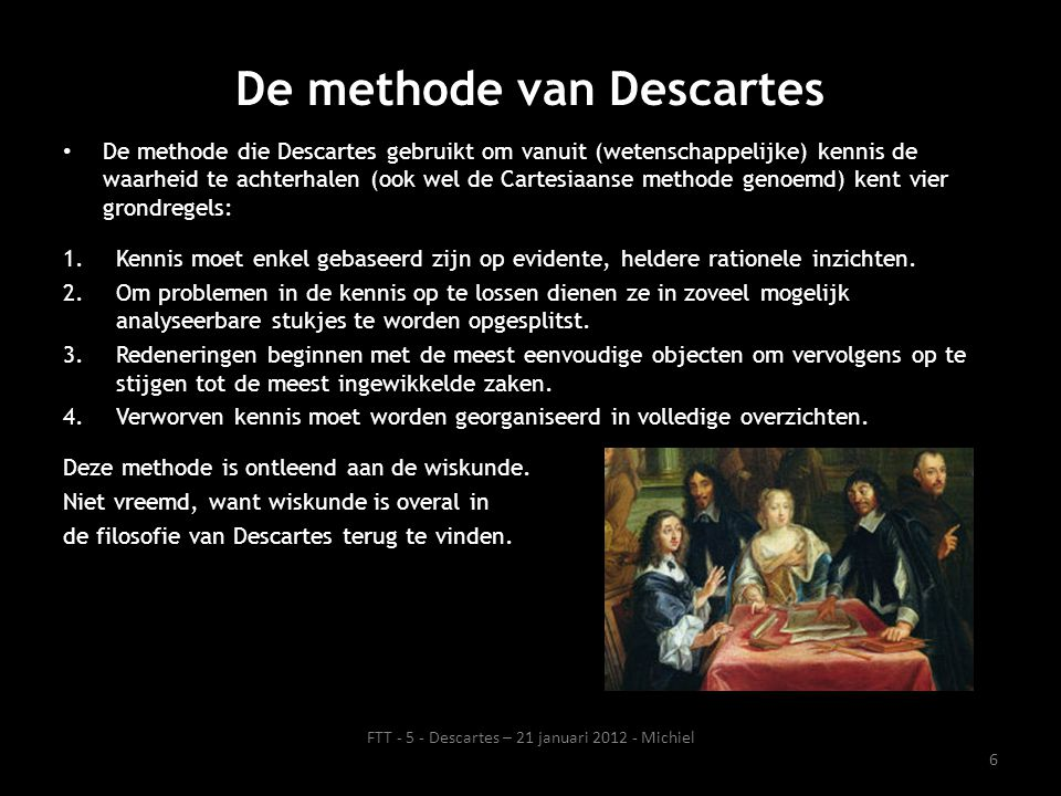De methode van Descartes