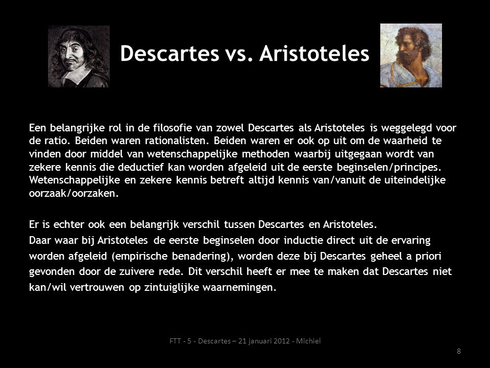Descartes vs. Aristoteles
