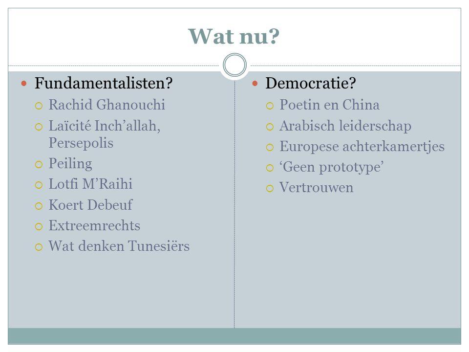 Wat nu Fundamentalisten Democratie Rachid Ghanouchi