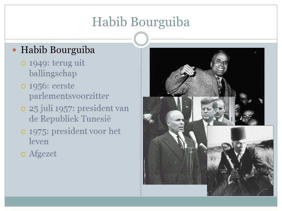 Habib Bourguiba Habib Bourguiba 1949: terug uit ballingschap