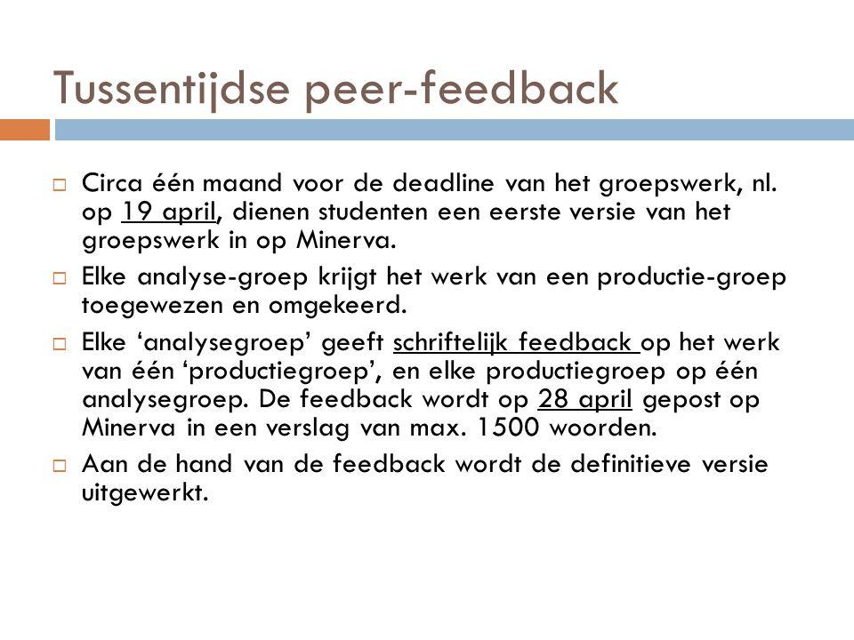 Tussentijdse peer-feedback