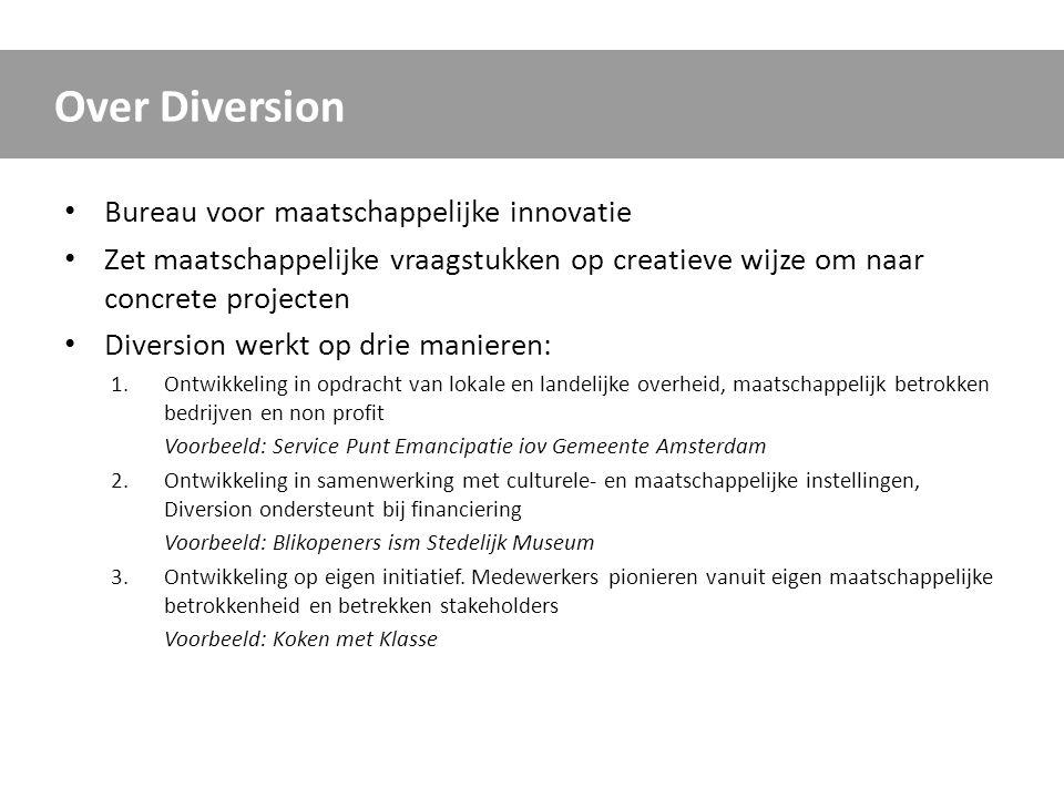 Over Diversion Bureau voor maatschappelijke innovatie