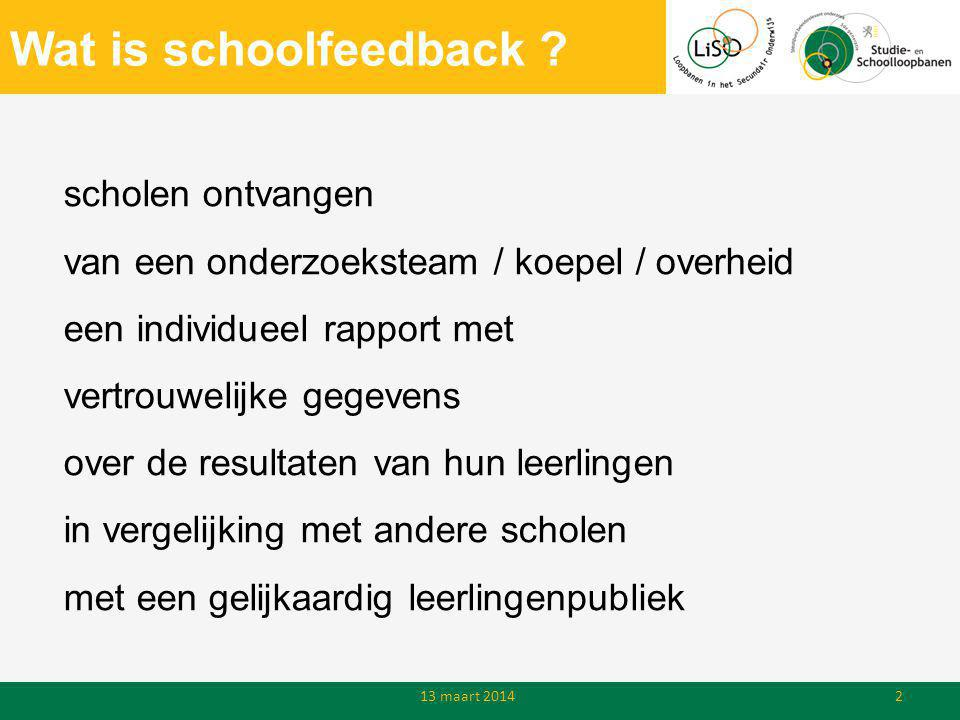 Wat is schoolfeedback