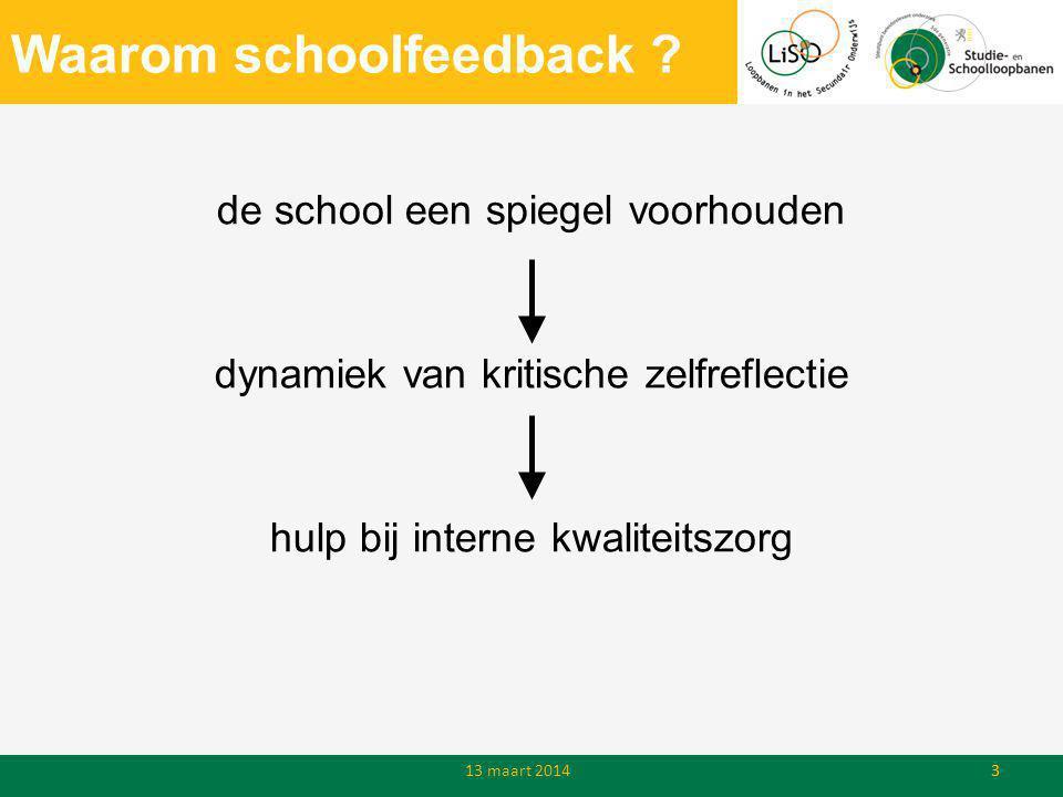 Waarom schoolfeedback