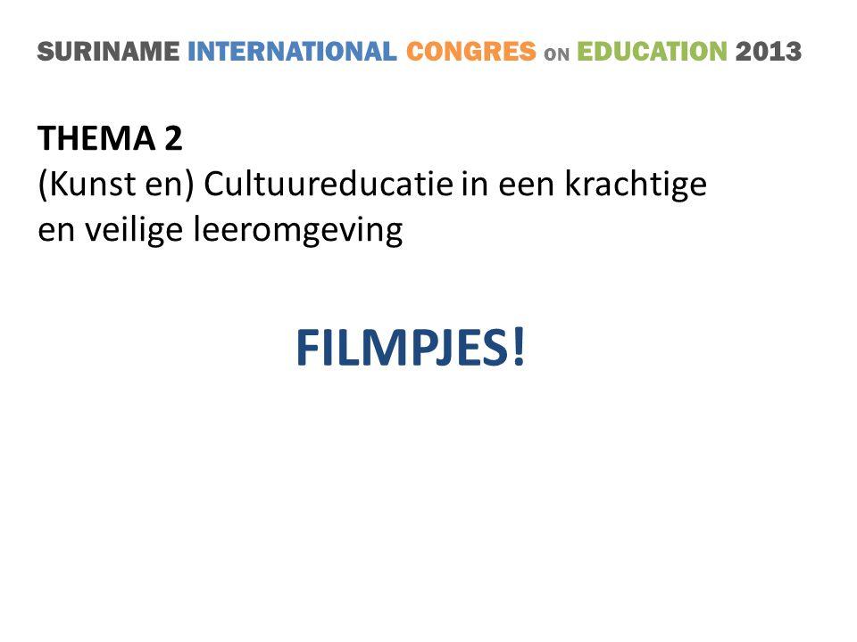 FILMPJES! THEMA 2 (Kunst en) Cultuureducatie in een krachtige