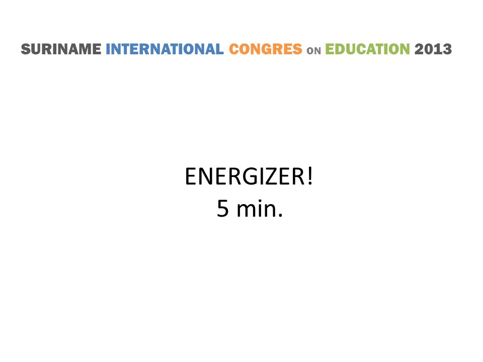 SURINAME INTERNATIONAL CONGRES ON EDUCATION 2013