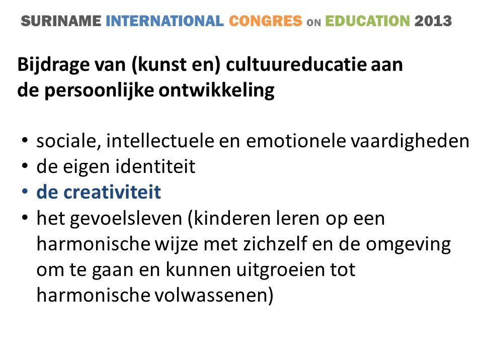 Bijdrage van (kunst en) cultuureducatie aan