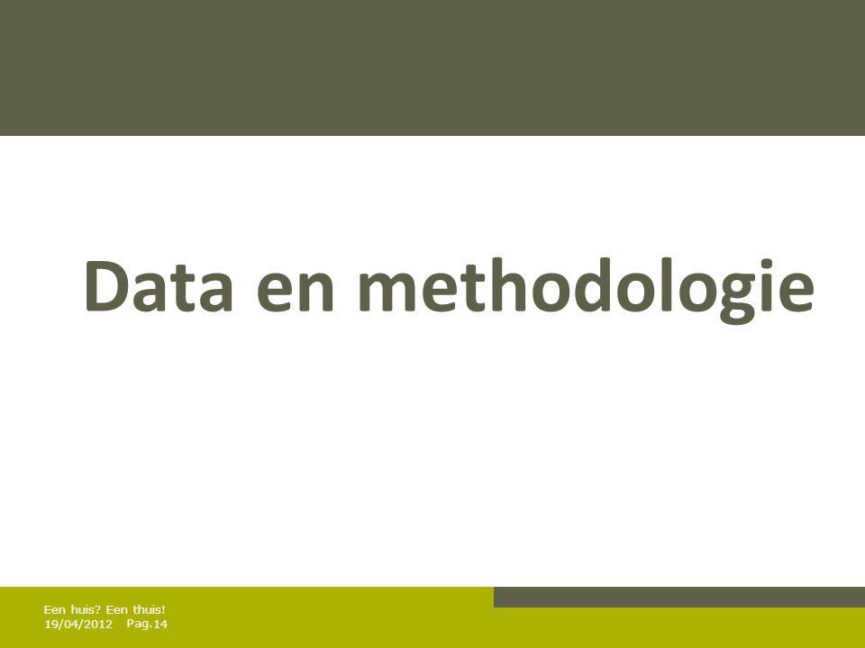 Data en methodologie Een huis Een thuis! 19/04/2012