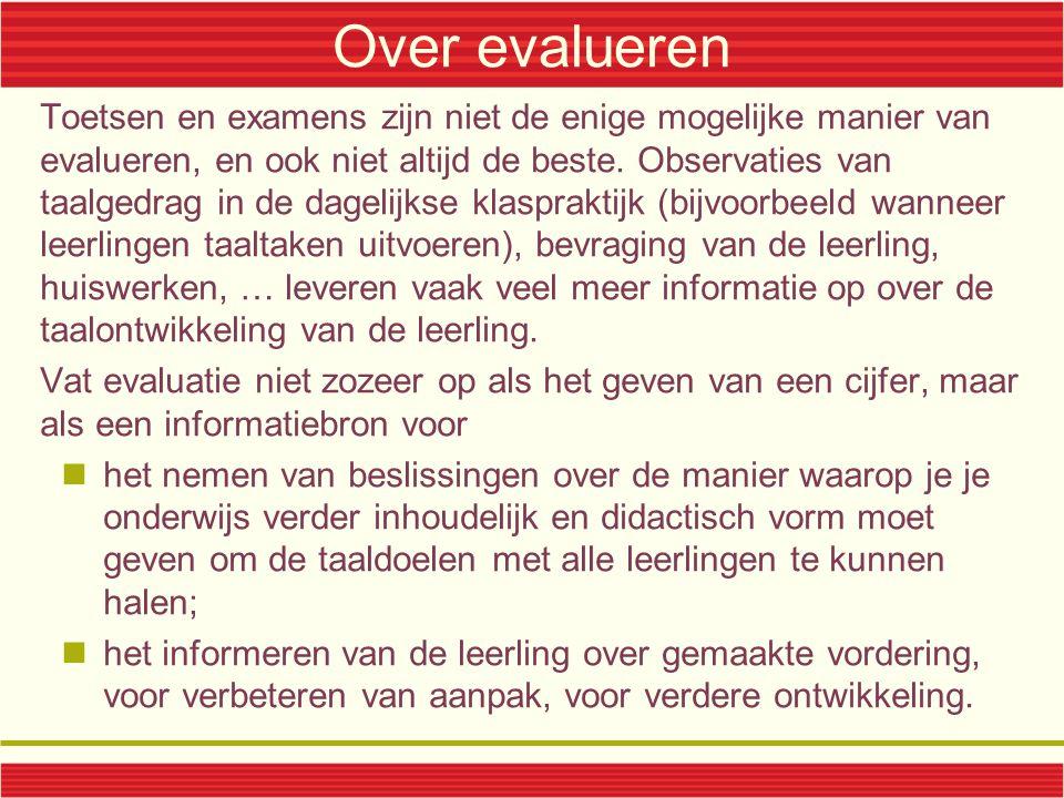 Over evalueren