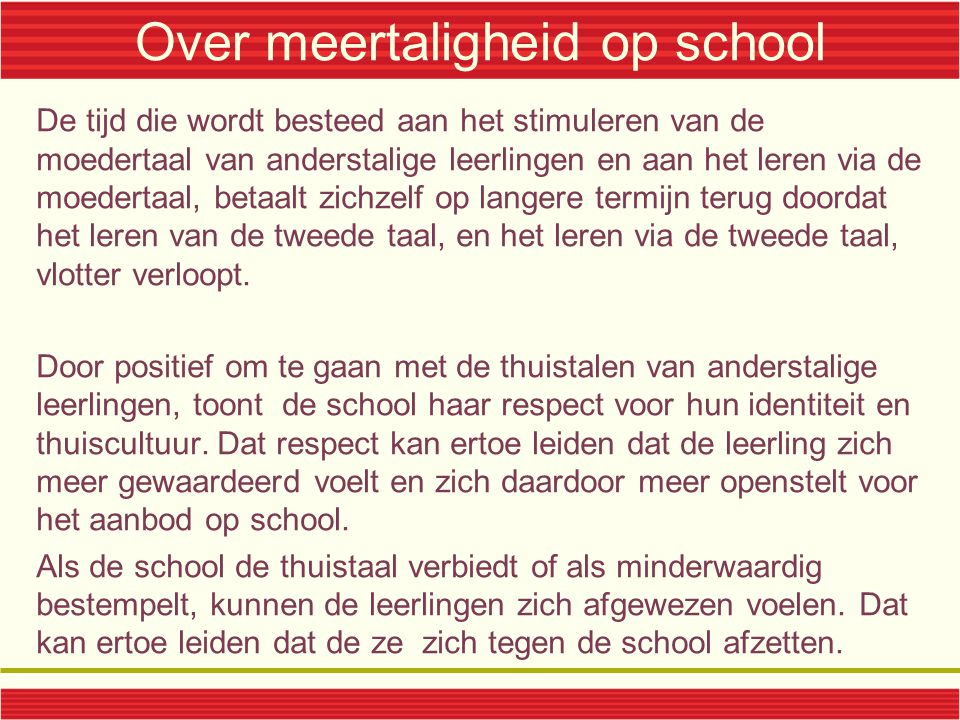 Over meertaligheid op school