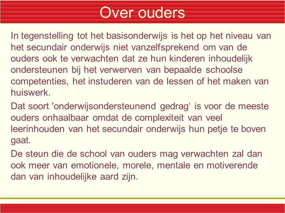 Over ouders