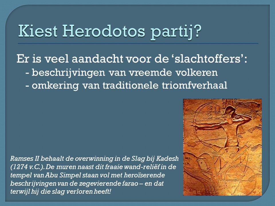 Kiest Herodotos partij
