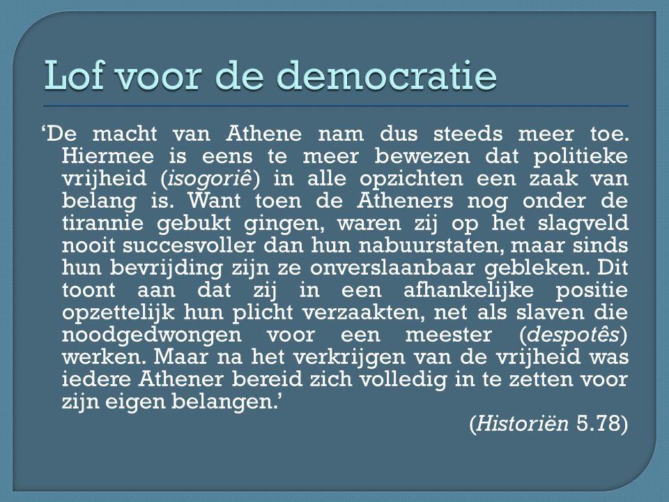Lof voor de democratie