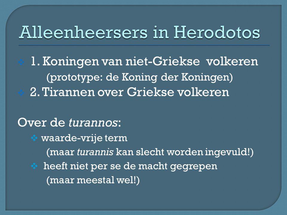Alleenheersers in Herodotos