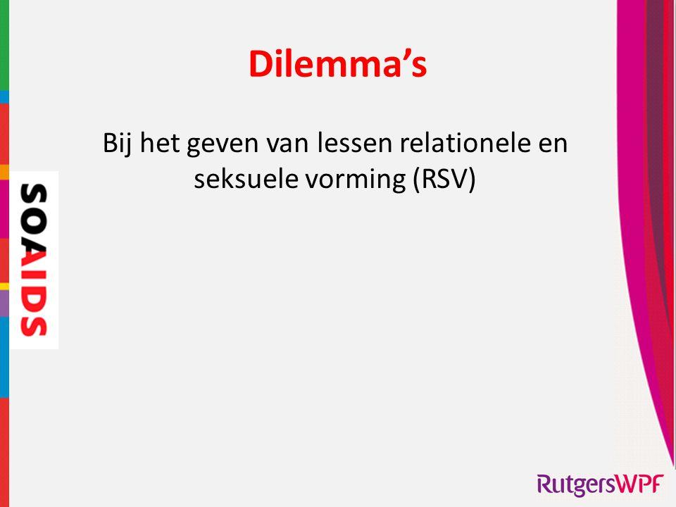 Bij het geven van lessen relationele en seksuele vorming (RSV)