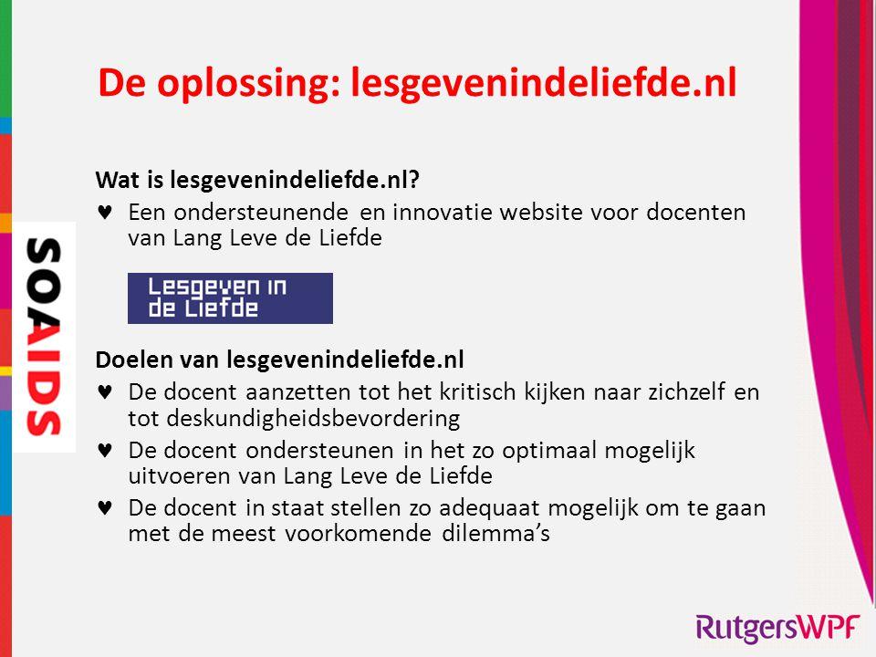De oplossing: lesgevenindeliefde.nl