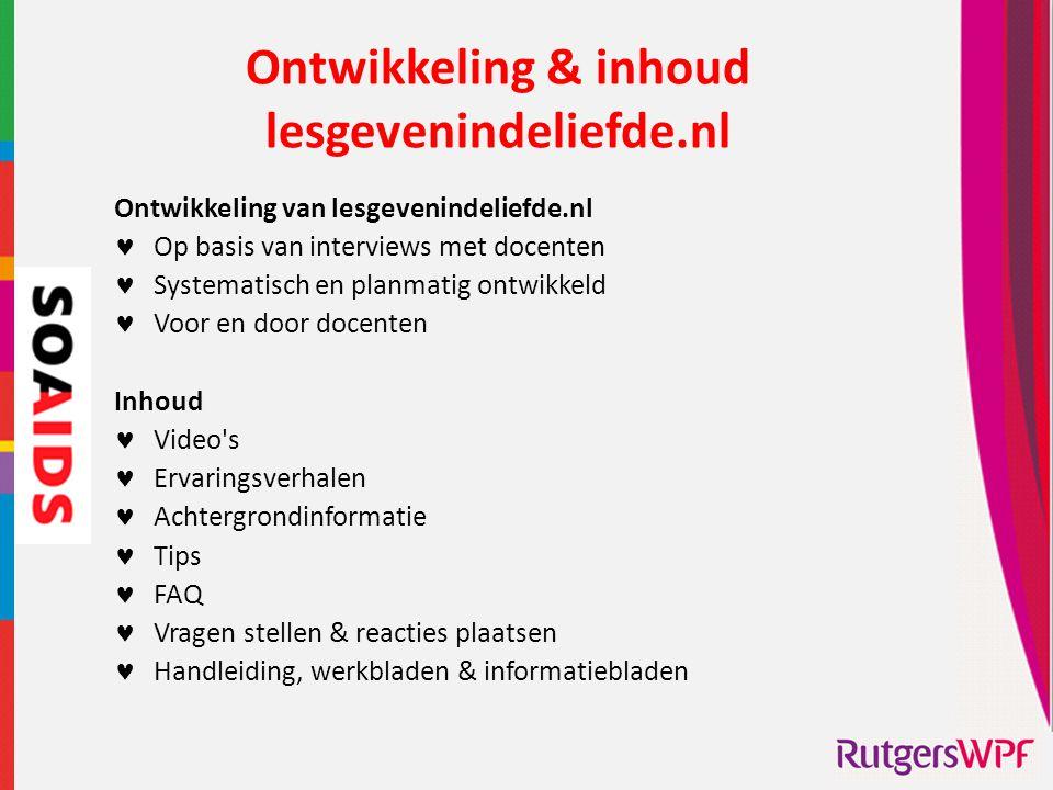 Ontwikkeling & inhoud lesgevenindeliefde.nl
