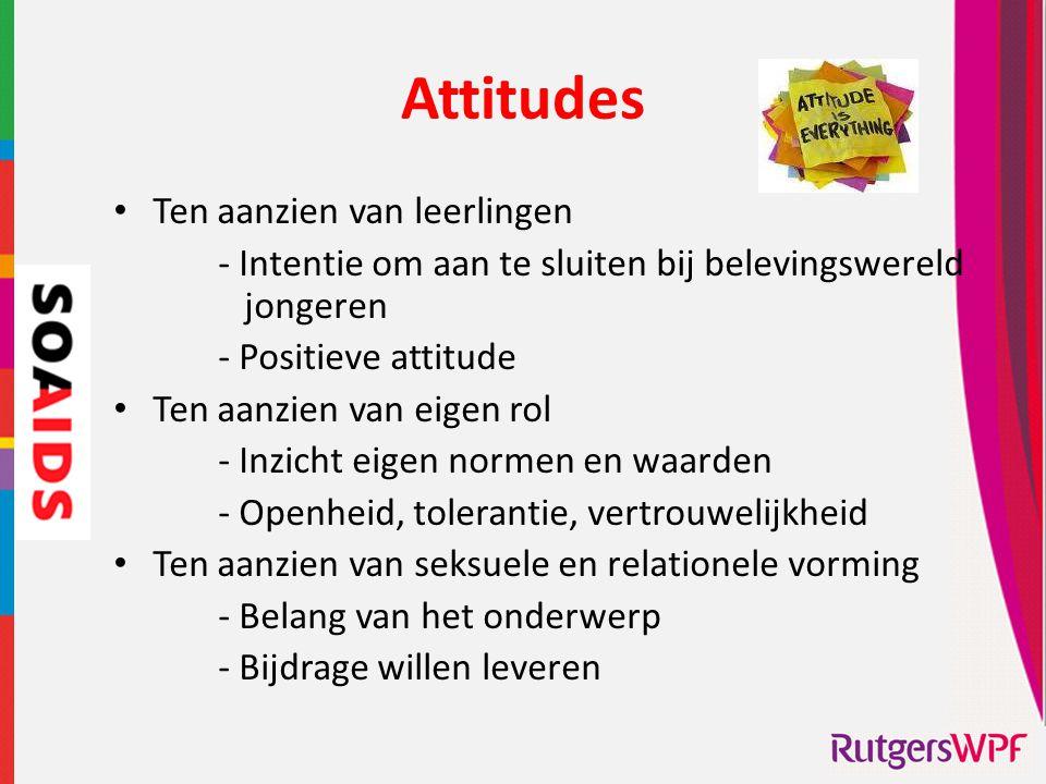 Attitudes Ten aanzien van leerlingen