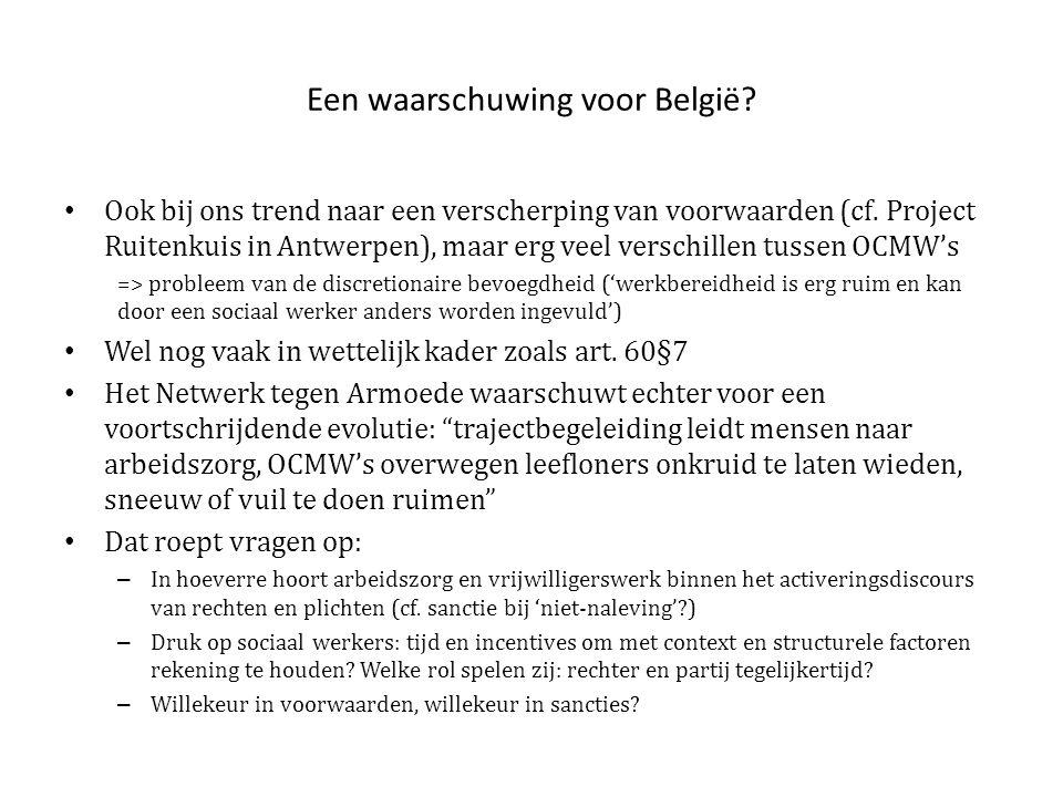 Een waarschuwing voor België