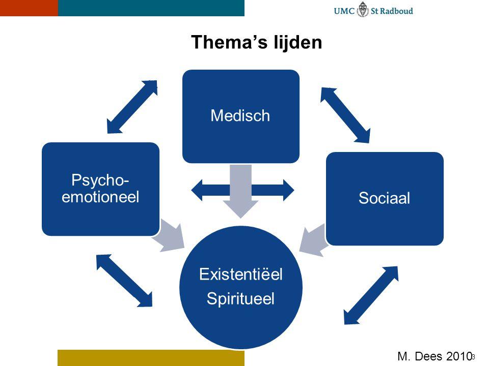 Thema's lijden Existentiëel Spiritueel Medisch Psycho-emotioneel