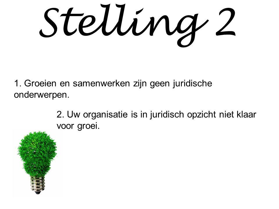 Stelling 2 1. Groeien en samenwerken zijn geen juridische onderwerpen.