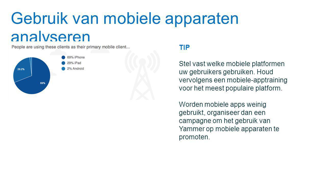 Gebruik van mobiele apparaten analyseren
