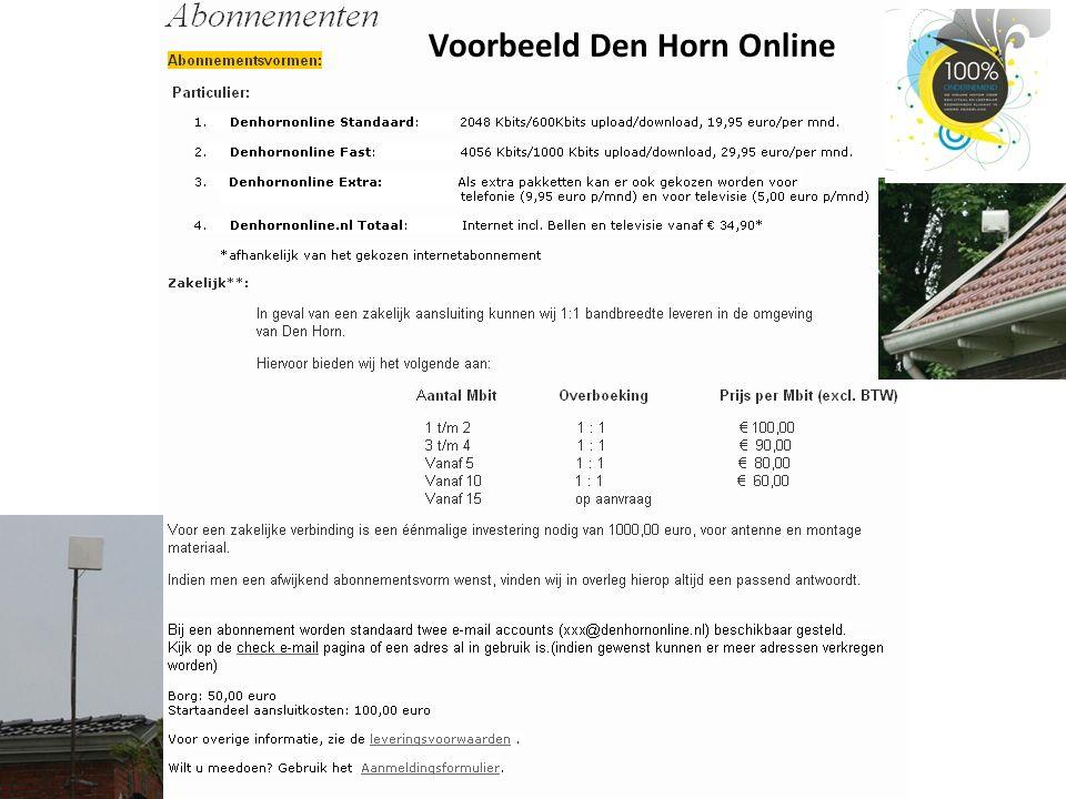 Voorbeeld Den Horn Online