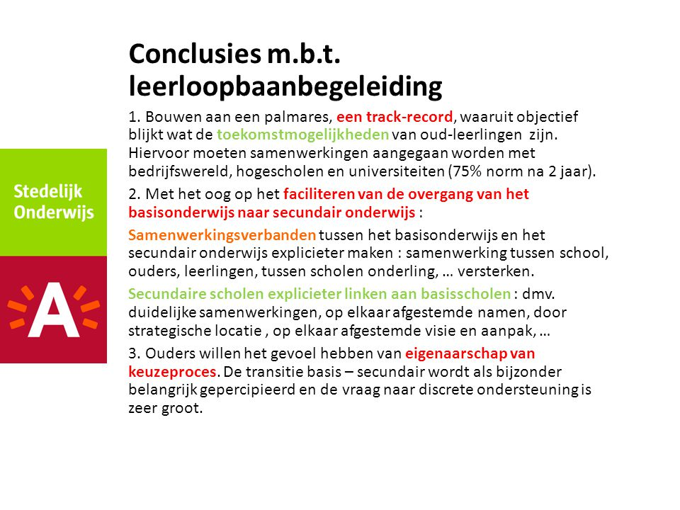 Conclusies m.b.t. leerloopbaanbegeleiding