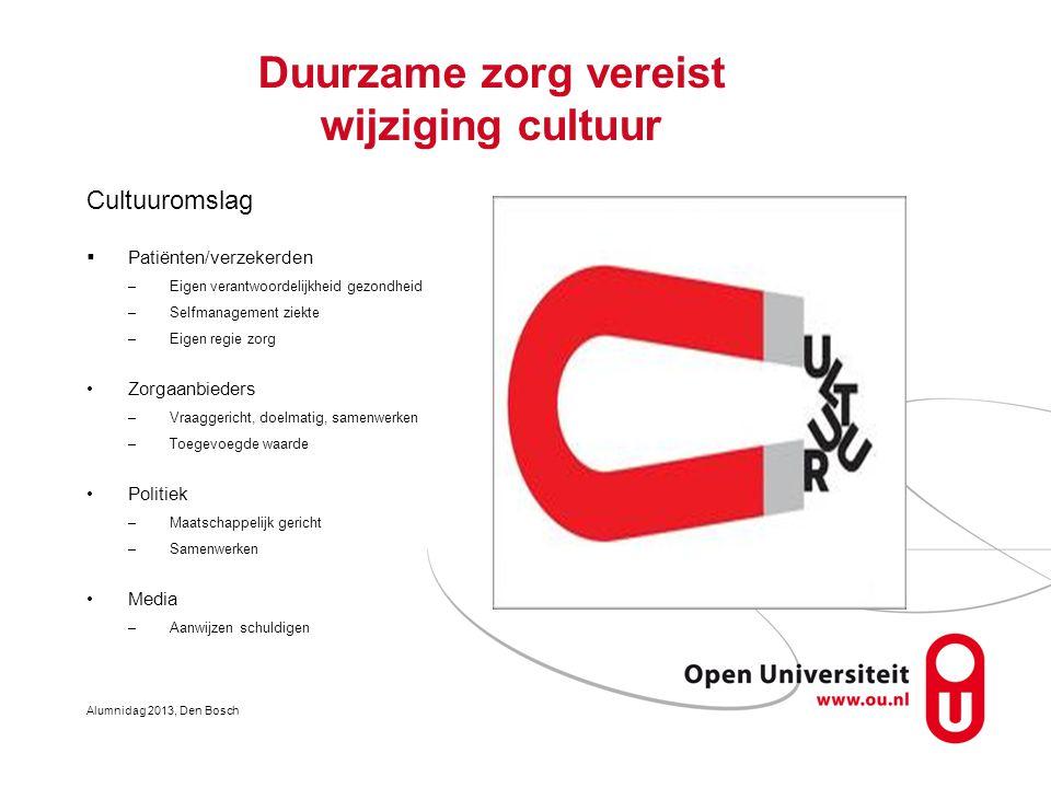 Duurzame zorg vereist wijziging cultuur