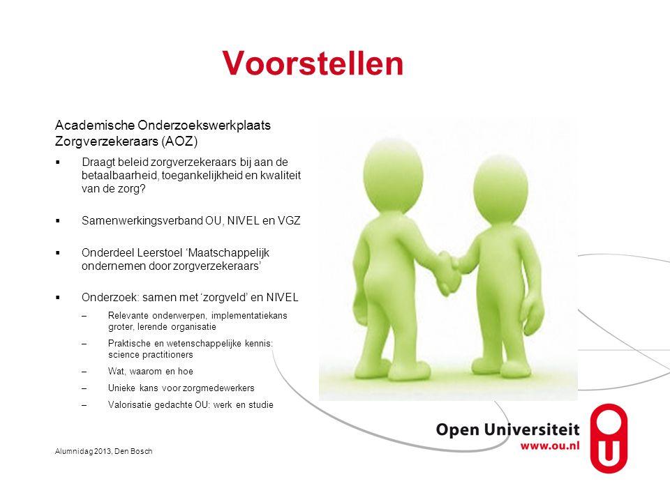Voorstellen Academische Onderzoekswerkplaats Zorgverzekeraars (AOZ)