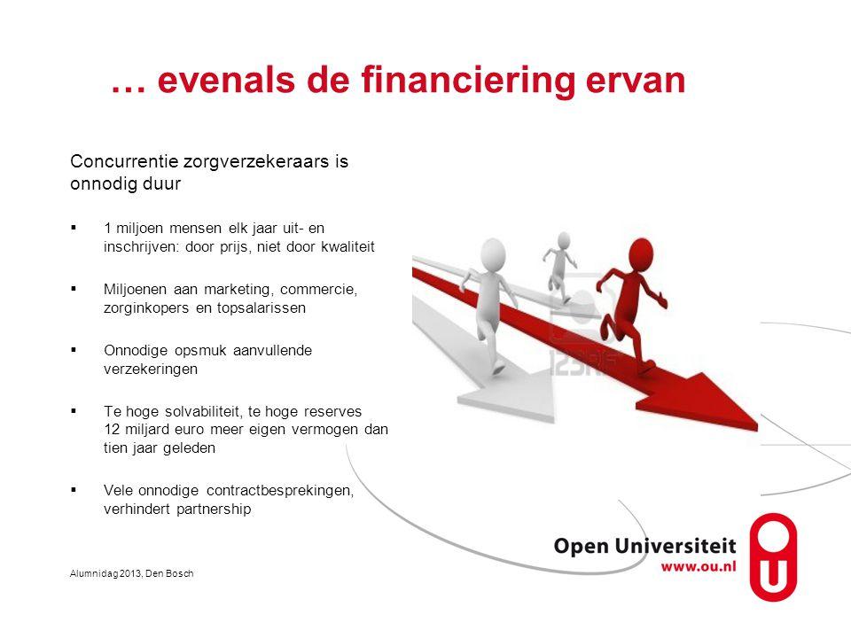… evenals de financiering ervan