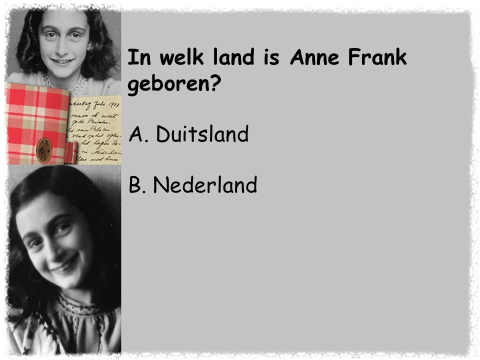 In welk land is Anne Frank geboren